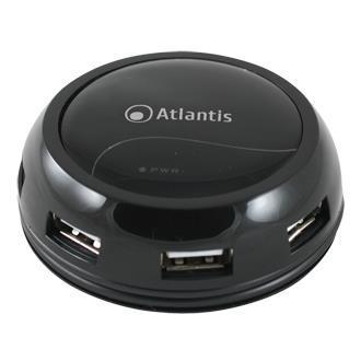 Atlantis by Nilox HUB 7 PORTE USB BLACK HUB