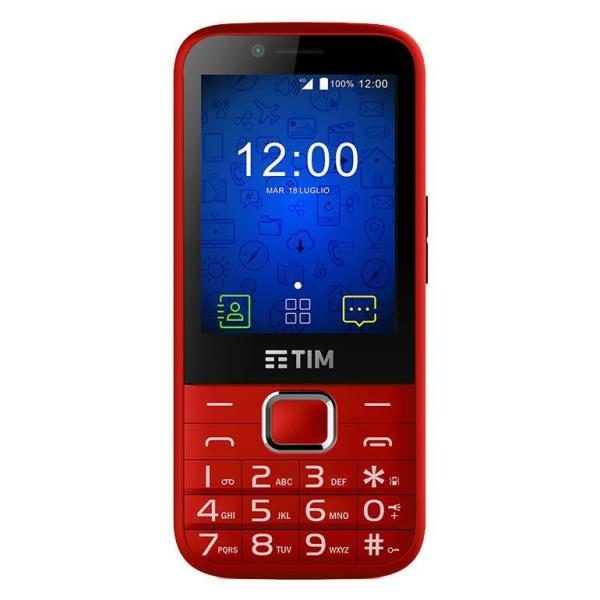 TIM TIM EASY TOUCH ROSSO Telefoni GSM/GPRS/EDGE/UMTS/HSDPA