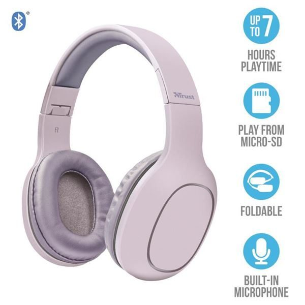 Trust DONA WIRELESS HEADPHONE PINK