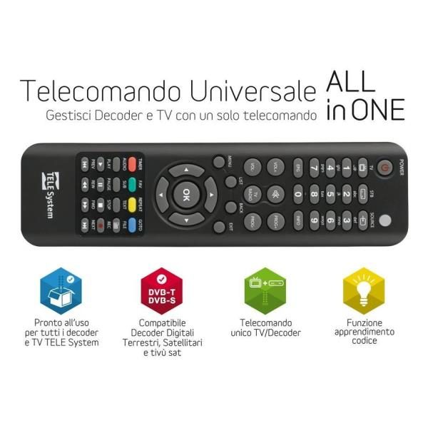Telesystem TELECOMANDO UNIVERSALE ALL IN ONE TELECOMANDI